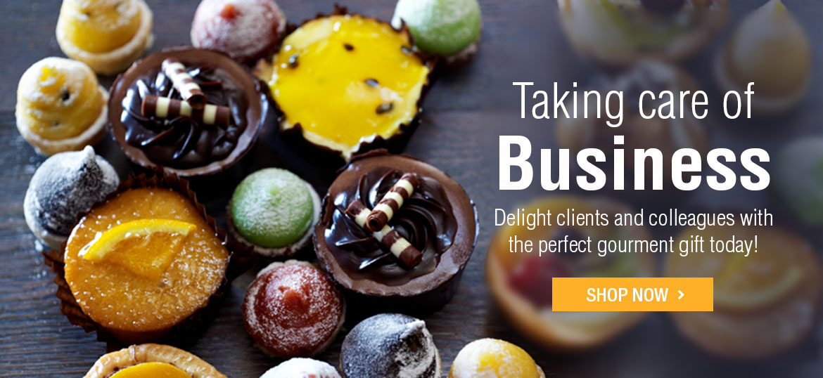 Taking care of business - Delight clients and colleagues with the perfect gourment gift today: Shop Now