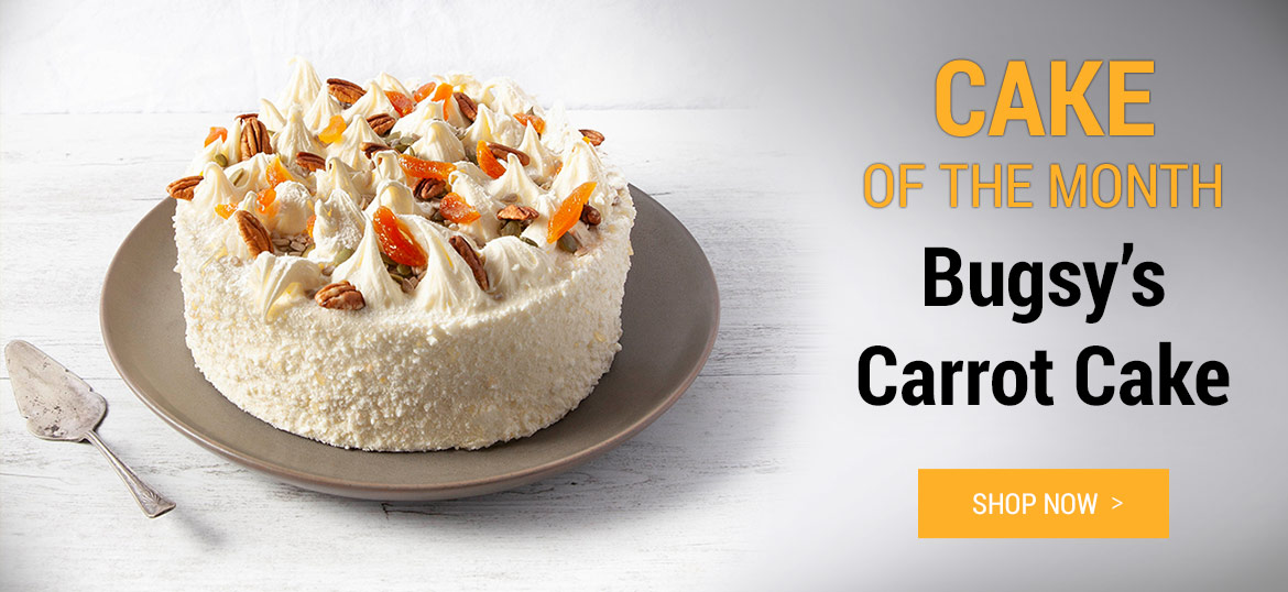 Cake of the month - Bugsy's Carroty Cake: Shop Now