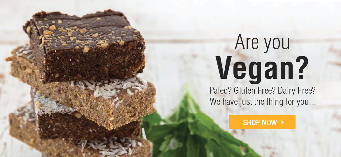 Are you Vegan? Paleo? Gluten Free? Dairly Free? We have just the thing for you... Shop Now