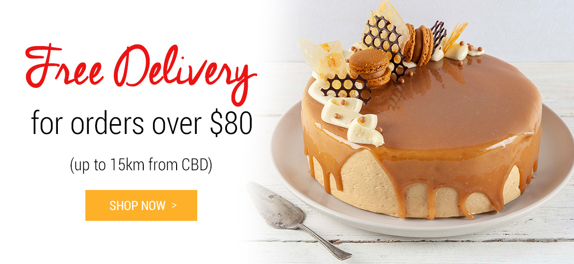 Free delivery for orders over $80 (up to 15km from CBD