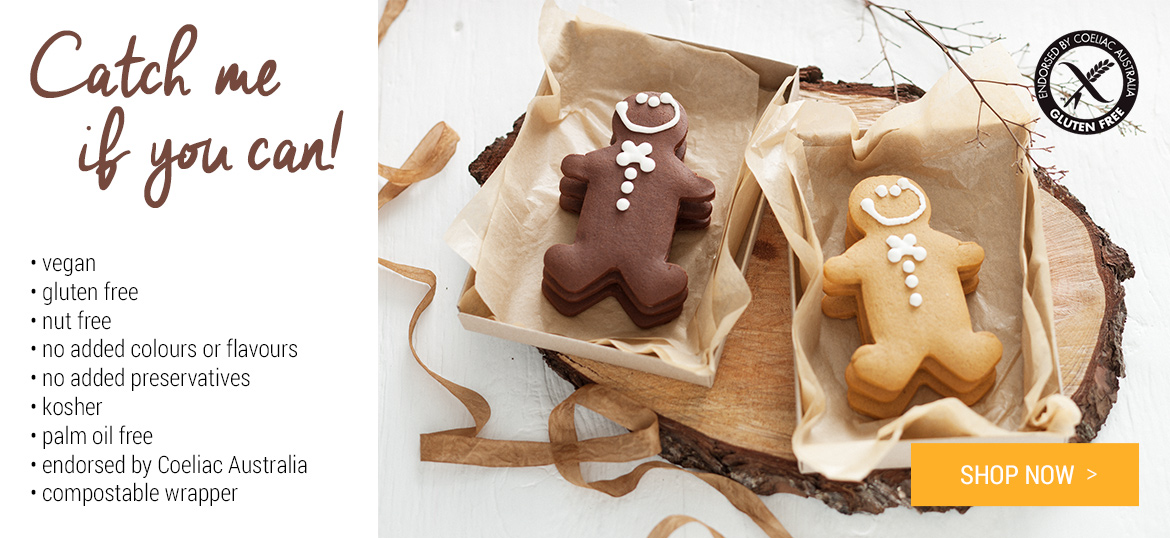 New Ginger Folk Gingerbread men: Catch me if you can! Yum: Shop Now