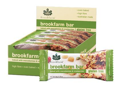BF Box Brookfarm Bars 35g - GF Mac and Cranberry