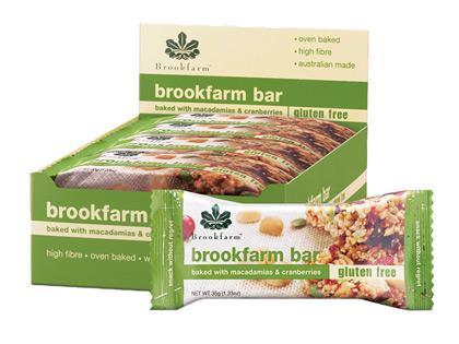 BF Box Brookfarm Bars 35g - GF Mac and Cranberry