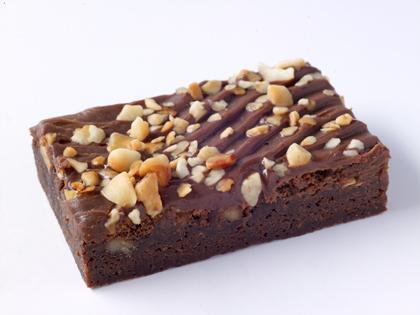 TC Macadamia Brownie Slice
