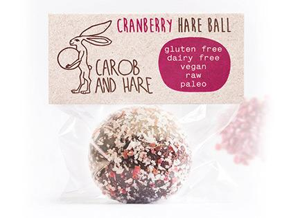 CH - 12 WRAPPED Cranberry Hare Balls -  GF,DF,V,RawRaw