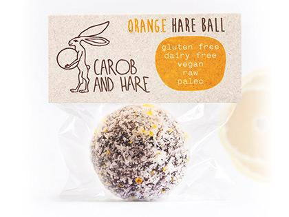 CH - 12 WRAPPED Orange Hare Balls -  GF,DF,V,Raw