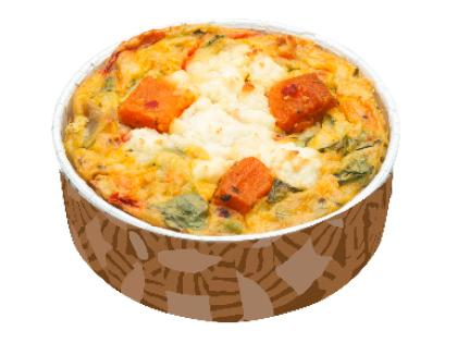 Chorizo, Roast Potato, Red Pepper & Spinach Gluten-Free Frittata