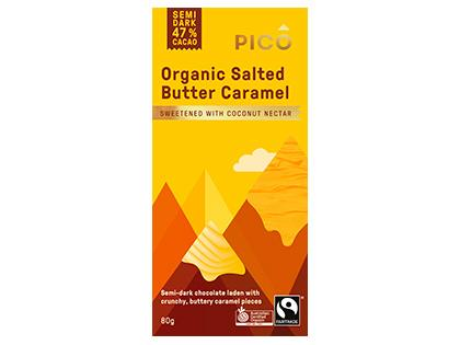 Chocolate - Org. Salted Butter Caramel FTO - Pico - 12x80g