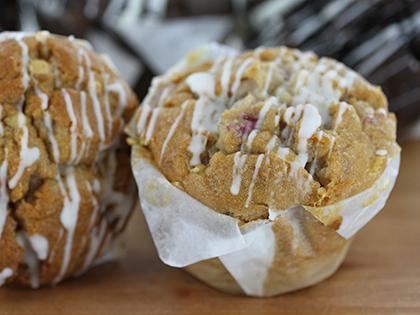 TC TEXAN Muffins White Chocolate & Raspberry