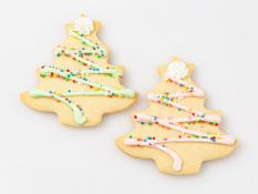 CC Large Shortbread Decorated Christmas Trees - Pastels