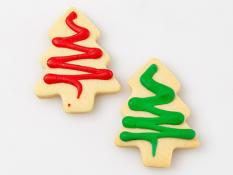 CC Medium Red and Green Decorated Christmas Trees