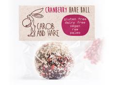CH - 40 WRAPPED Cranberry Hare Balls -  GF,DF,V,Raw