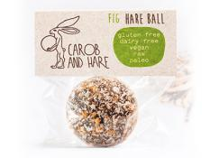 CH - 12 WRAPPED Fig Hare Balls -  GF,DF,V,Raw