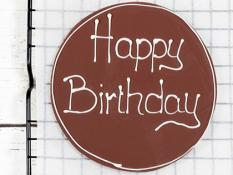 Milk Chocolate Plaque with White Chocolate Writing