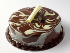 "TC 9""  Medium White & Dark Mousse Cake"