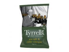 Crisps - Sea Salt & Cider Vinegar - Tyrrells - 9x165g  Gluten Free